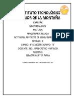 Eleazar Albiter Ayala Reportes de Mequinaria Pesada Unidadiii