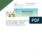34_Cómo Crear y Ejecutar Una Macro en Word 2007 y 2010