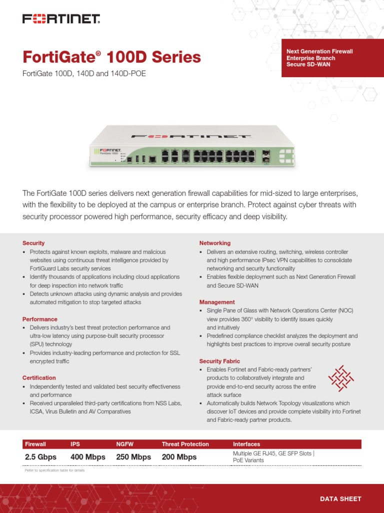 Fortigate 100d Series Computer Network Cloud Computing