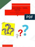 Modulasi Sinyal – Sinyal Digital
