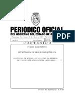 PROTOCOLO DE ACTUACIÓN POLICIAL EN MATERIA DE VIOLENCIA DE GÉNERO CONTRA LAS MUJERES