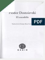 El Cocodrilo Fiodor Dostoievsk