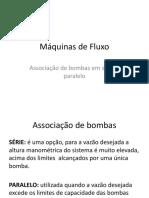 Máquinas de Fluxo - Associação Bombas