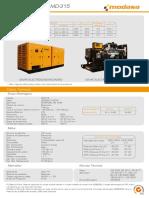 Ficha Técnica Grupo Electrógeno MD-315