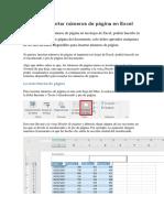 Cómo Insertar Números de Página en Excel XC