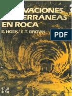 Excavaciones Subterraneas en Rocas Hoek Brown