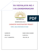Investigatory Project Chemistry