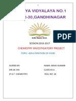 Investigatory Project Chemistry