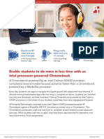 Enable students to do more in less time with an Intel processor-powered Chromebook Summary