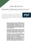 Murray Bookchin Marxism as Bourgeois Sociology