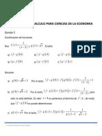 Ejemplo 5 Combinación de Funciones