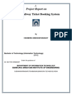 95265643 Online Railway Ticket Reservation Docomentation by Chandra Shekhar Bhakat