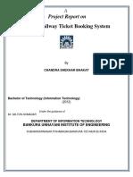 95265643 Online Railway Ticket Reservation Docomentation by Chandra Shekhar Bhakat