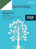 IGCSE Biology 2017 Specification