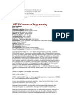 .Net E-commerce Programming