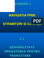 Seminar 2 Nav Prin Stramtori Si Canale
