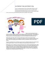 Difference between Mother´s Day and Father´s Day