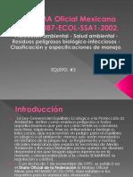 Norma Oficial Mexicana Nom 087 Ecol Ssa1 2002