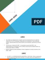 EVOLUCIÓN DEL SNTE 1990- 2000