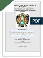 Deuda Tributaria Coactiva de Gobiernos Locales y Su Incidencia en El Cumplimiento de Metas Institucionale en Las Provincias de Vilcas Huamán y Huanta,2012-2014.