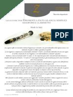 Catalogo Zac Ligature Presentazione