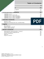 FordRanger 2004 Manual