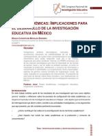 Redes Academicas. Implicaciones Para El Desarrollo de La Investigacion Educativa en Mexico