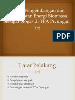 Potensi Pengembangan Dan Pemanfaatan Energi Biomassa Sebagai Biogas