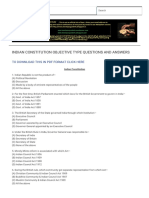 Indian Constitution Objective Type Questions and Answers _ Kpscg4u
