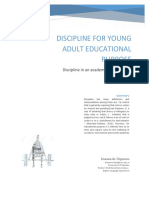Discipline for young adult, educatinal purpose