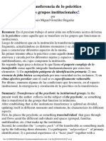 Transferencia de Lo Psicótico_Eliseo Gonzalez