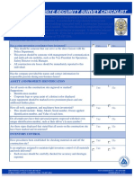 Construction Site Security Survey Checklist