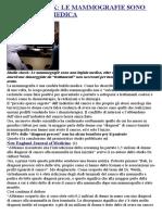 Studio Shock Le Mammografie Sono Una Bufala Medica