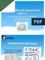 SCM- Gestion Operaciones - Parte I