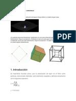 Analogía Bidimensional de La Distorsión Del Espacio
