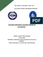 Procedee Tehnologice Speciale Utilizate În Aeronautică