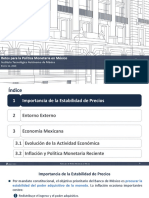 Retos de La Política Monetaria - Banxico - Seminario ITAM