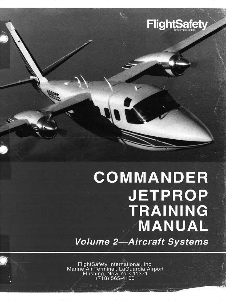Flightsafety Commander Jetprop Training Manual Volume 2 Aircraft Generator Accessory Buy Safety Switchair Circuit Breakergenerator Systems Door Airplane