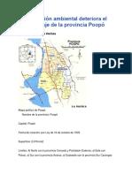 Ontaminación Ambiental Deteriora El Bello Paisaje de La Provincia Poopó