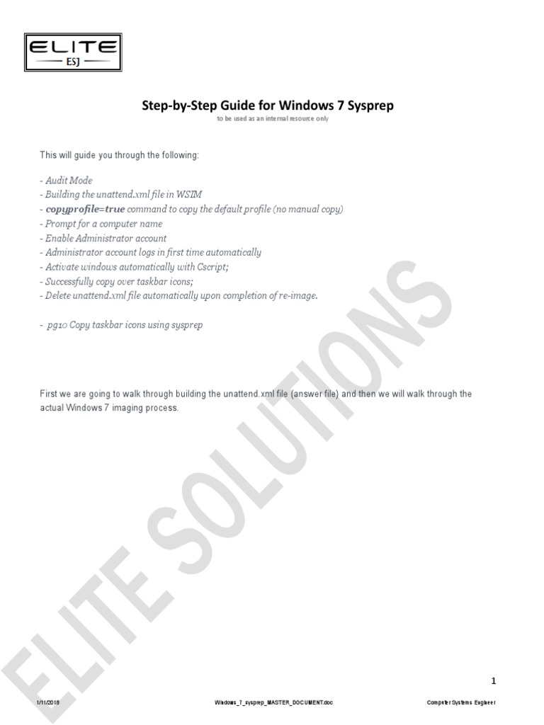 Sysprep windows 10 инструкция