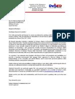 SHS Application Cover Letter