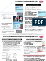 DAVIE Quick Ref Guide 2012 - Programming