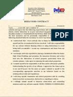 Behaviour Contract OGS