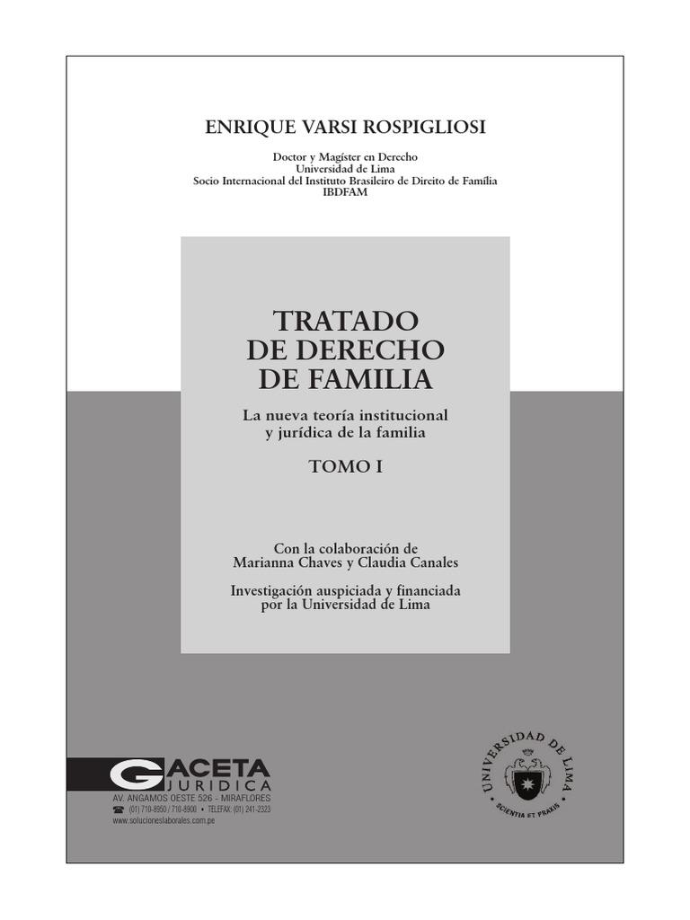 Tratado de Derecho de Familia - Tomo i - La Nueva Teoria ...