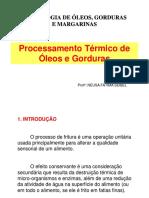 Processamento Térmico de Óleos e Gorduras