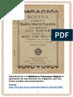 Novena en Sufragio de Las Benditas Almas Del Purgatorio _ Pbro. Manuel Galbis Belda - 1904(1)