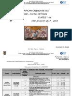 Planificari Calendaristice Clasele I - IV - 2017-2018