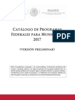 Programas Federales 2017 Version Preliminar 01feb17
