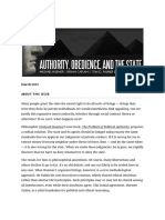 Authority, Obedience, And the State