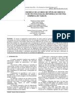 _ARTIGO Proposta de Um Modelo de Acordo de Nivel de Serviçoao Departamento de Tecnologia Da Informação Em Uma Empresa de Varejo